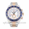 Hommes Rolex Yacht-master Ii 116681 Boîtier 44 MM Mouvement Automatique Cadran Blanc