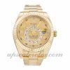 Rolex Hommes Sky-dweller 326938 Mouvement Automatique Cadran Champagne 42mm